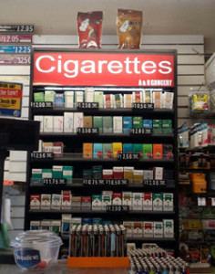 A 15% increase in tobacco sales