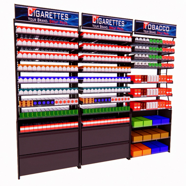 cigarette racks tobacco fixtures and cigarette displays. Black Bedroom Furniture Sets. Home Design Ideas