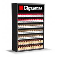 3ft Wood Cigarette Display