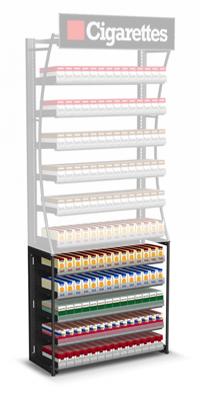 Cigarette Pack Pusher Shelves Base for Tobacco Fixtures