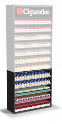 Cigarette Pack Pusher Shelves Base for Tobacco Fixtures