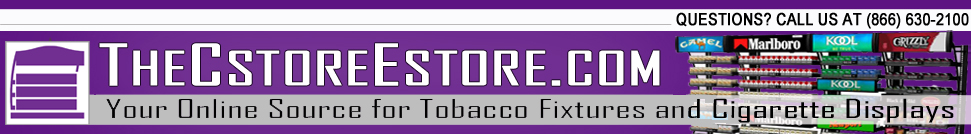 TheCstoreEstore.com - The Leading Online Distributor of Cigarette and Tobacco Display Cabinets and Racks and the exclusive Manufacturer of M-Series Overhead Cigarette Racks.