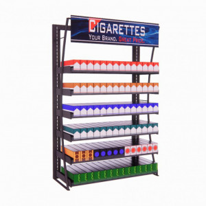 3ft LP Metal Frame Cigarette Fixture, 84 Facings - Product Image
